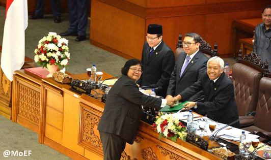 Environment Ministry's hard work pays off as Indonesian parliament ratifies Paris Agreement