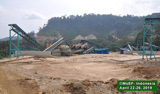 Photos display Batang Toru dam construction progress