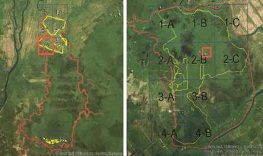 Fire ravaged forestry concessions not covered by LiDAR mapping